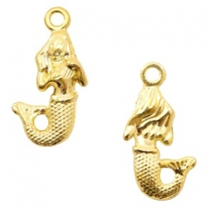 Bedel mermaid goud 22x12mm