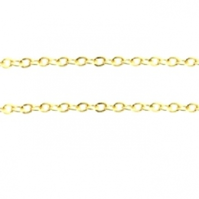 Schakelketting 3x2mm gold plated, 1 meter