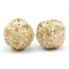Bohemian kraal 14mm Gold beige crystal