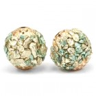 Bohemian kraal 14mm Turquoise green gold