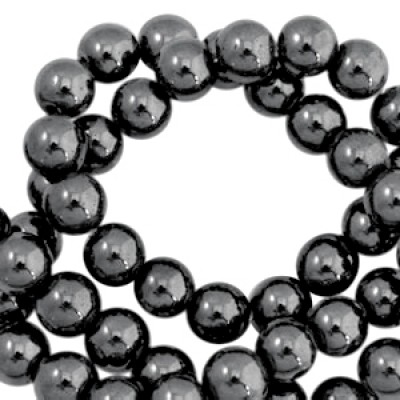 Hematite kraal 6mm Anthracite grey