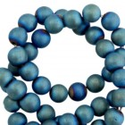 Hematite kraal 6mm mat blue/green