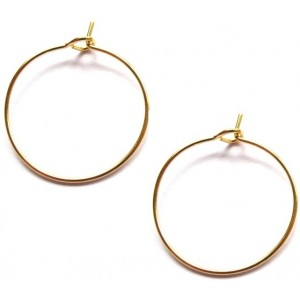 Oorringen 25mm Gold plated, per paar
