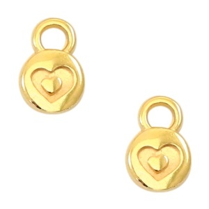 DQ bedel heart 6mm goud