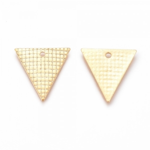 RVS bedel triangle goud