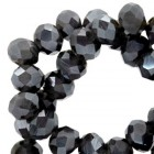 Top Facet 4x3 mm Dark grey diamond