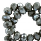 Top Facet 4x3mm Dark army diamond