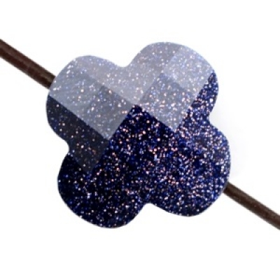 Fashion Facet klaver Midnight blue glitter