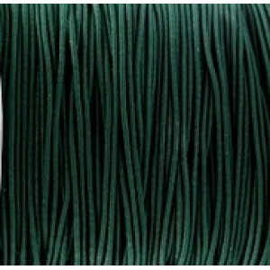 Gekleurd elastiek 0.8mm Dark green, per meter