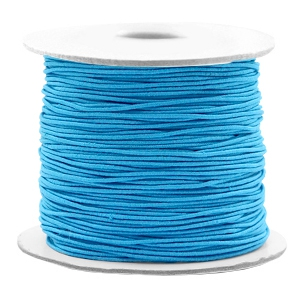Gekleurd elastiek 0.8mm aqua blue, 5 meter