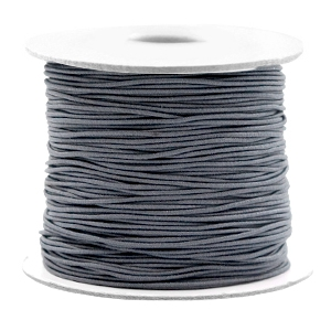 Gekleurd elastiek 0.8mm cool grey, 5 meter