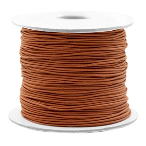 Gekleurd elastiek 0.8mm copper brown, 5 meter