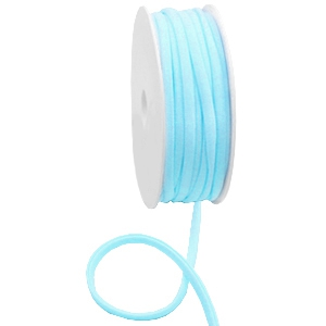 DQ stitched elastisch lint Ibiza light turquoise blue, 49cm