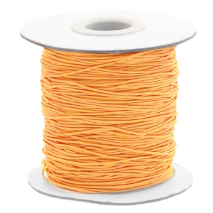 Gekleurd elastiek 0.8mm sunflower orange, 5 meter