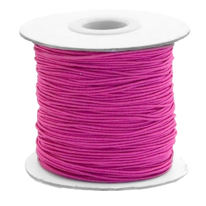 Gekleurd elastiek 0.8mm cherry pink, 5 meter