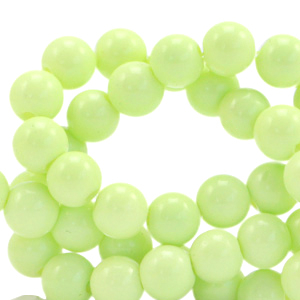 Opaque glaskralen 4mm luminary green, 40 stuks