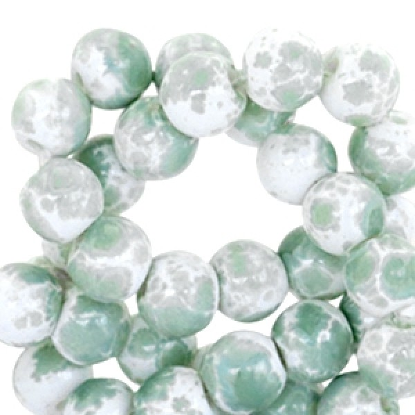 Gemêleerd 4mm White-green 100 stuks