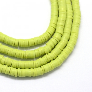 Katsuki 6mm green yellow, volle string ca. 380 stuks