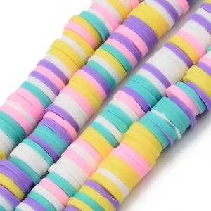 Katsuki 6mm mixed colour, volle string ca 380 stuks