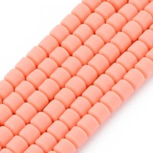 Katsuki 6mm tubes light salmon, volle string ca. 60 stuks