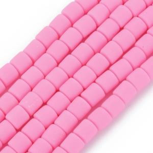 Katsuki 6mm tubes hot pink, volle string ca. 60 stuks