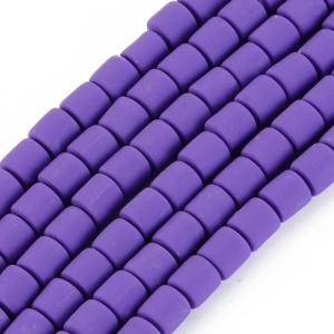 Katsuki 6mm tubes blue violet, volle string ca. 60 stuks
