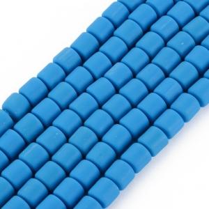 Katsuki 6mm tubes dodger blue, volle string ca. 60 stuks