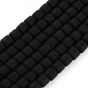 Katsuki 6mm tubes black, volle string ca 60 stuks