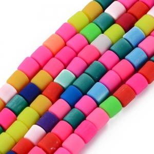 Katsuki 6mm tubes mixed colour, volle string ca. 60 stuks