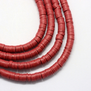 Katsuki 4mm dark red, volle string ca 400 stuks