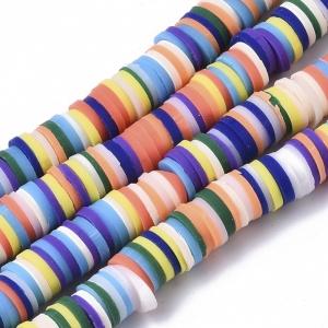 Katsuki 6mm mixed colour, volle string ca. 380 stuks