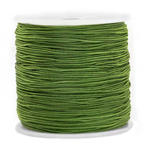 Macramé draad 0.8mm jugle green, 5 meter