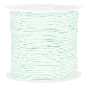 Macramé draad 0.8mm frosted blue, 5 meter