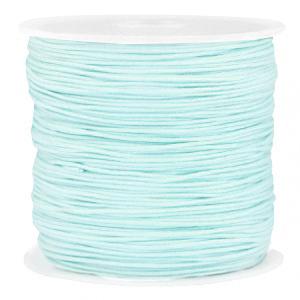 Macramé draad 0.8mm turquoise blue, 5 meter