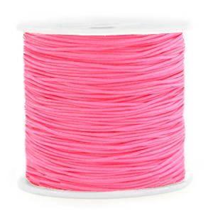 Macramé draad 0.8mm neon pink, 5 meter