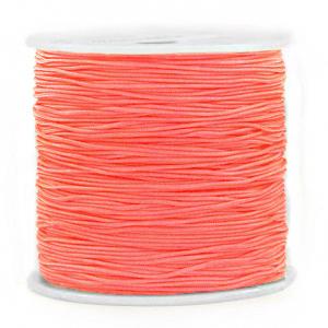 Macramé draad 0.8mm coral red, 5 meter