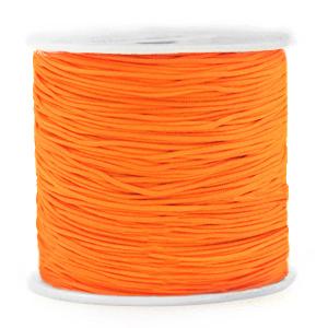 Macramé draad 0.8mm neon orange, 5 meter