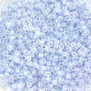 Miyuki Delica's 11/0 2mm ceylon sky blue DB0257, 4 gram