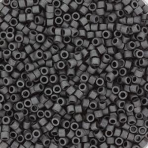 Miyuki Delica's 11/0 2mm metallic matte slate DB0306, 4 gram
