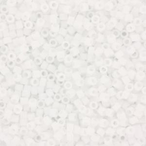 Miyuki Delica's 11/0 2mm matte ab white DB0351, 4 gram