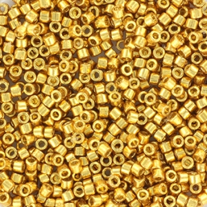 Miyuki Delica's 11/0 2mm duracoat galvanized gold DB1832, 4 gram