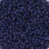 Miyuki Delica's 11/0 2mm Duracoat opaque dyed navy DB2143, 4 gram