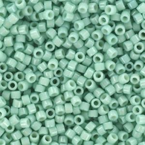 Miyuki Delica's 11/0 2mm duracoat opaque mint aqua DB2356, 4 gram