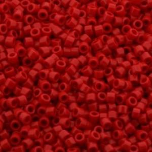 Miyuki delica's 11/0 - opaque rood - 600 stuks