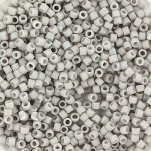 Miyuki delica's 11/0 - opaque grijs - 600 stuks