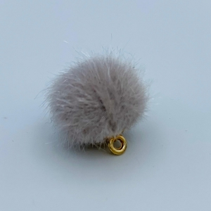 Pompom bedel cloud grey 17mm
