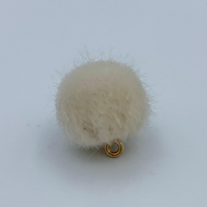 Pompom bedel cloud white 17mm