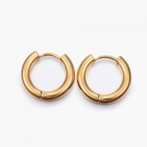 RVS oorbellen creolen goud 13mm, per paar