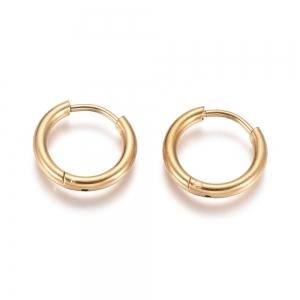 RVS oorbellen creolen goud 14mm, per paar