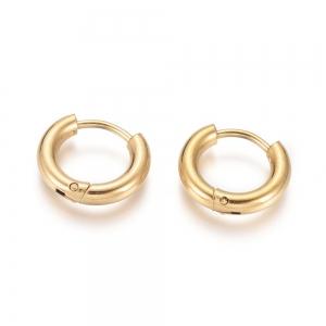 RVS oorbellen creolen goud 16mm, per paar